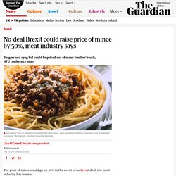 No-deal Brexit could raise price of mince by 50%, meat industry says