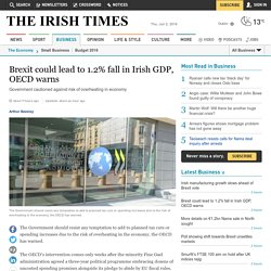 Brexit could lead to 1.2% fall in Irish GDP, OECD warns