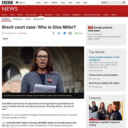 Brexit court case: Who is Gina Miller?