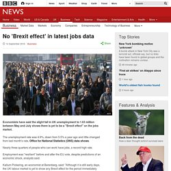 No 'Brexit effect' in latest jobs data