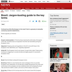 Brexit: Jargon-busting guide to the key terms