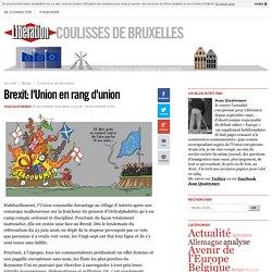 Brexit: l'Union en rang d'union
