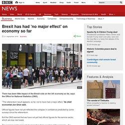 Brexit has had 'no major effect' on economy so far