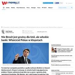 Nie Brexit jest groźny dla Unii, ale włoskie banki. Właściciel Pekao w kłopotach