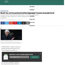Brexit: feu vert du parlement britannique pour l'examen du projet de loi