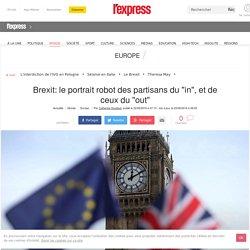 """Brexit: le portrait robot des partisans du """"in"""", et de ceux du """"out"""""""