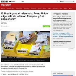 El Brexit gana el referendo: Reino Unido elige salir de la Unión Europea. ¿Qué pasa ahora? - BBC Mundo