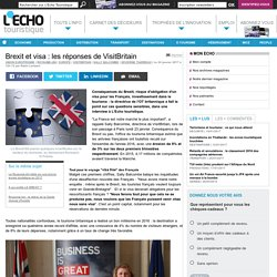 Brexit et visa : les réponses de VisitBritain