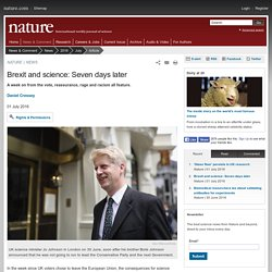 Brexit and science: Seven days later