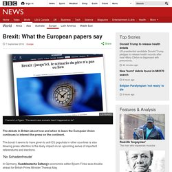 Brexit: What the European papers say