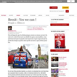 Brexit : Yes we can