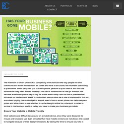 Has Your Business Gone Mobile?