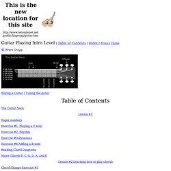 Brian Gregg's Free Guitar Lessons