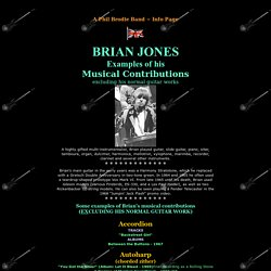 BRIAN JONES: Musical Contributions