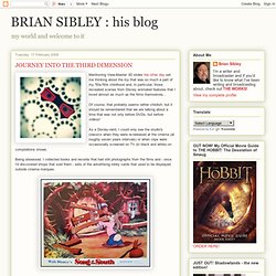 his blog: JOURNEY INTO THE THIRD DIMENSION