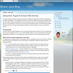 Brians Java Blog: Spring Boot, Angular & Amazon Web Services