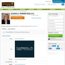 Briarcliff Manor Green Business - Susan G. Parker ESQ, P.C. - Green Business