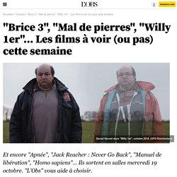 """""""Brice 3"""", """"Mal de pierres"""", """"Willy 1er""""... Les films à voir (ou pas) cette semaine"""