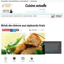 Brick de chèvre aux épinards frais, facile et pas cher