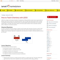 BRICK Marketplace: How to Teach Chemistry with LEGO