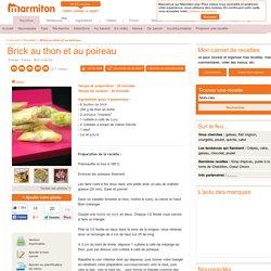 Bricks au thon et aux poireaux