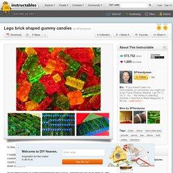 Lego brick shaped gummy candies