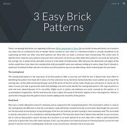 Brick1 - 3 Easy Brick Patterns Your Mason Can Do For your Home