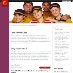 United Kingdom, UK Crew Member jobs - Brickhill Part Time Grounds\Maintenance Person Milton Keynes Brickhill at McDonald's