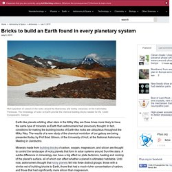 Bricks to build an Earth found in every planetary system