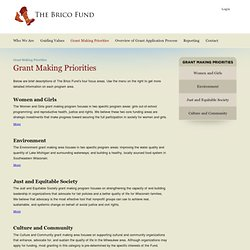 The Brico Fund - Grant Making Priorities