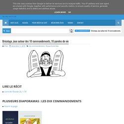 Bricolage, jeux autour des 10 commandements, 10 paroles de vie - KT42 - portail caté