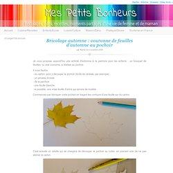Bricolage automne : couronne de feuilles d'automne au pochoir