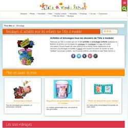 Bricolage enfants et décoration bricolage sur Tête à modeler