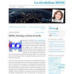 MOOC, bricolage et bouts de ficelle