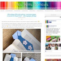 Bricolage fête des pères: marque page cravate à imprimer – découpage pliage
