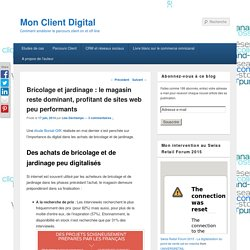 Bricolage et jardinage : le magasin reste dominant, profitant de sites web peu performants - Mon Client Digital