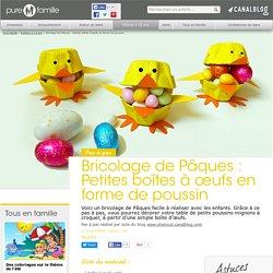 Bricolage de Pâques : Petites boîtes à oeufs en forme de poussin - Enfants 2-12 ans