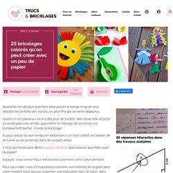 25 bricolages colorés qu'on peut créer avec un peu de papier - Brico enfant