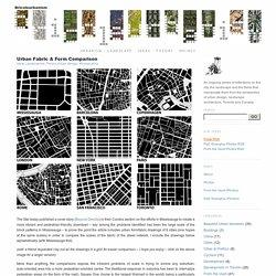Urban Fabric & Form Comparison
