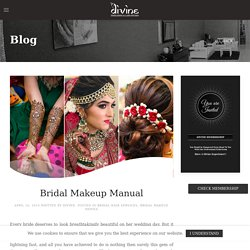 Bridal Makeup Manual - Divine Threading