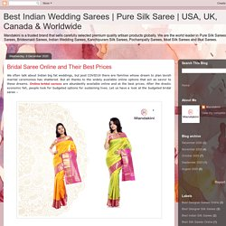 Bridal Saree Online and Their Best Prices