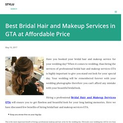 Best Bridal Hair and Makeup Services in GTA at Affordable Price