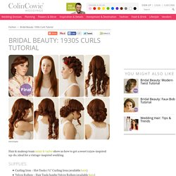 Bridal Hair Styles, Up-Do, Wedding Hair, Curls, Vintage Hair Style
