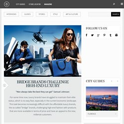 Bridge brands challenge high-end fashion