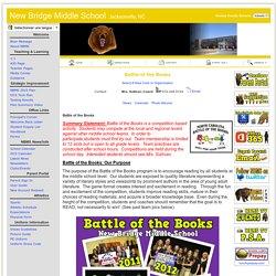 New Bridge Middle School: Clubs & Organizations - Battle of the Books