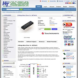 Texas Instruments H-Bridge Motor Driver 1A - SN754410