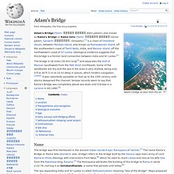 Adam's Bridge