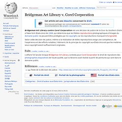 Bridgeman Art Library v. Corel Corporation