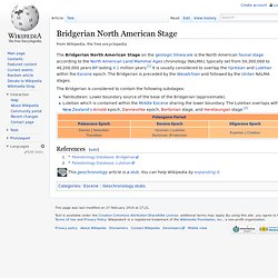 Bridgerian North American Stage