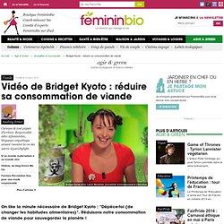 Bridget Kyoto : réduire sa consommation de viande